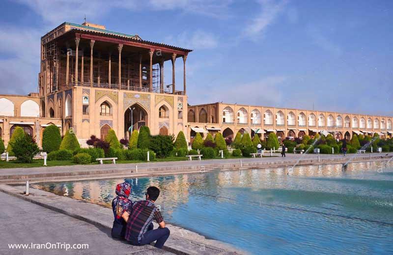 Ali Qapu Palace in Isfahan Iran