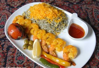Prawn kebab - Persian Food