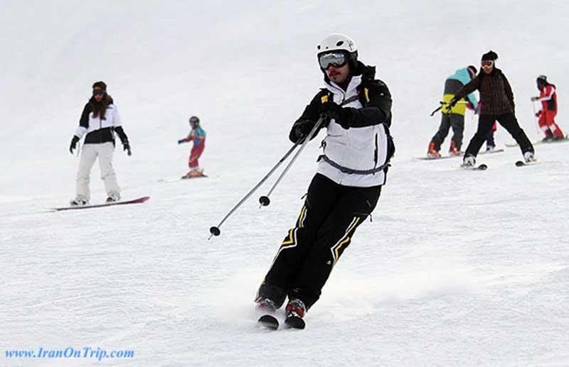 PouladKaf ski piste Tehran Iran