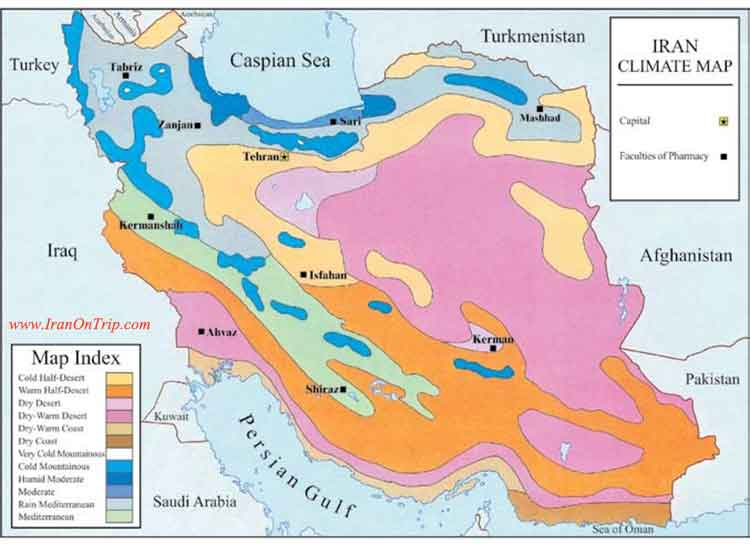 The Map and Climate of Iran