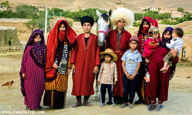 Turkman dress in Gorgan Iran