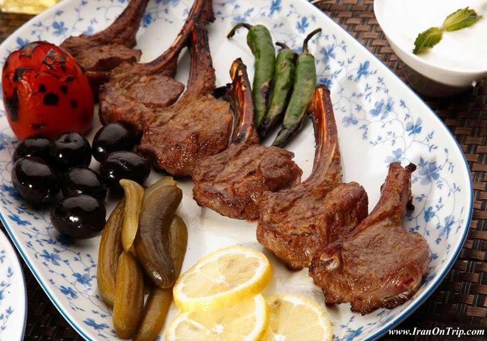 Lamb Rib Roast - Lamb Shashlik in oven with Saffron Rice