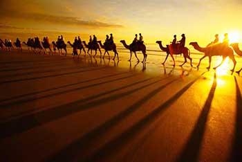Camel Riding at Deserts of Iran