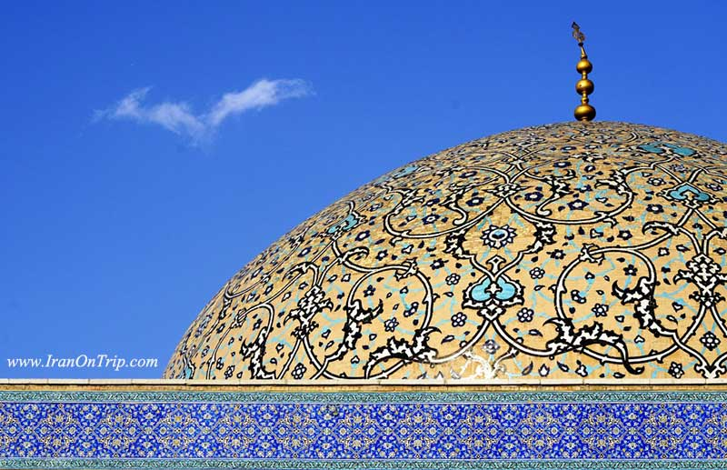 The dome of Sheikh-Lotfollah-Mosque-Isfahan-Iran