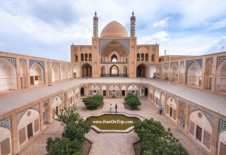 Historical Agha Bozorg Mosque of Kashan Iran