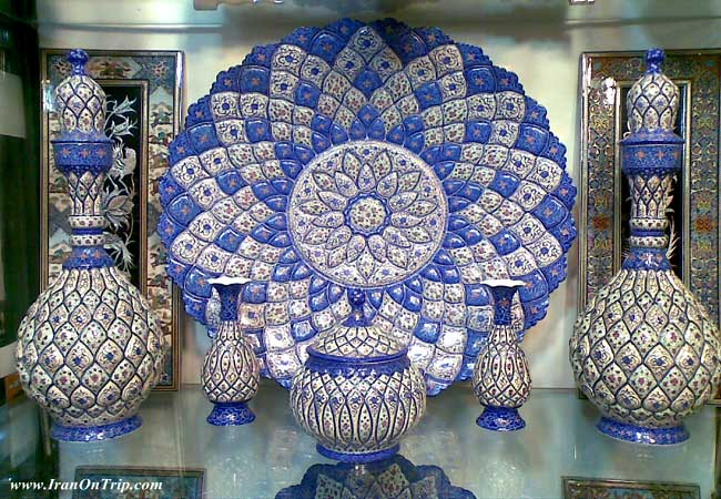 Enamel of Iran- Mina Kari of Iran - Iranian Art - Persian Art