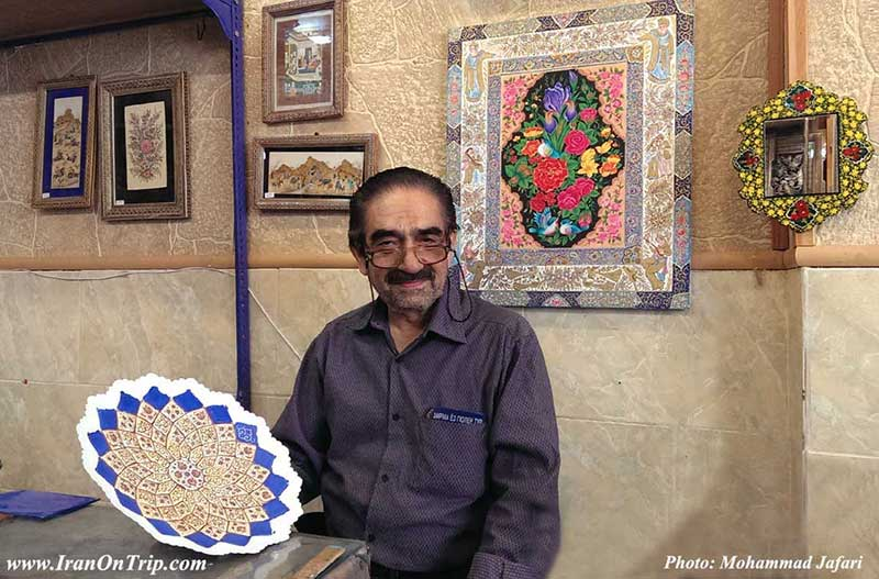 Isfahanian Arts , Art of Minakari ، Isfahan Handicrafts - Iranian Art - Persian Art