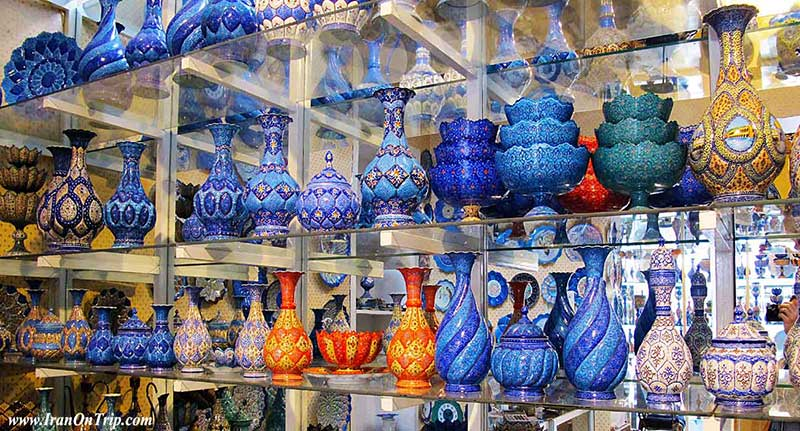 Art of Minakari ، Isfahan Handicrafts - Iranian Art - Persian Art