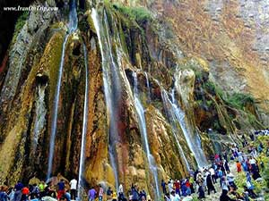 Margoon Waterfall in Iran