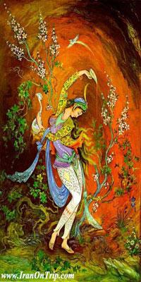 Iranian Miniature - Isfahan Miniature - Iranian Art - Persian Art