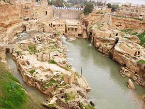 Shushtar Waterfalls in Iran