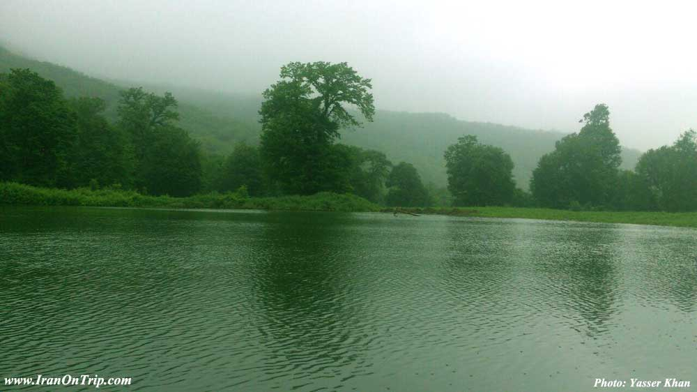 Baq_e_golbon village pond Golestan - Golestan Tourist Attractions