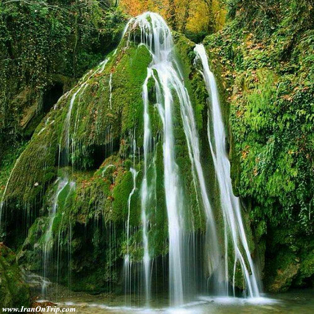 Kaboud-val waterfall - Golestan Tourist Attractions
