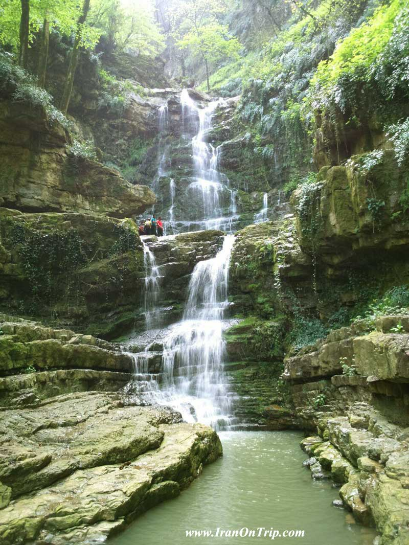 O_tereh and O_gerdgerd waterfalls - Golestan Tourist Attractions