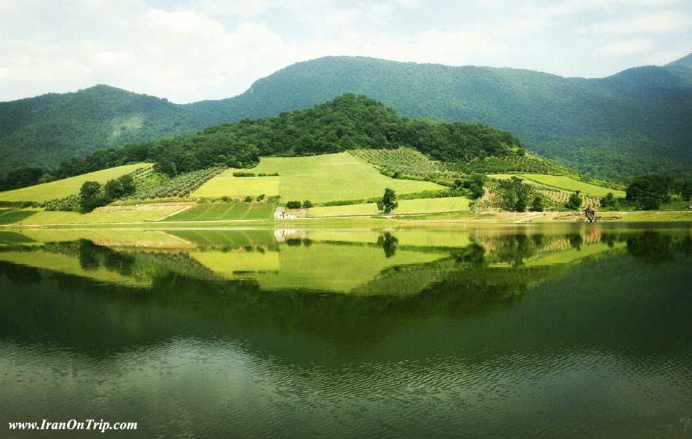 Shafi Abad village pond Golestan - Golestan Tourist Attractions