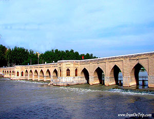 Choobi (Joui) Bridge or Sa'adat Abad Bridge - Historical Bridges of Iran