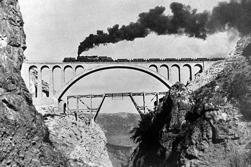 Historical Veresk Bridge in Savad Kooh Firozkooh Iran - Historical Bridges of Iran