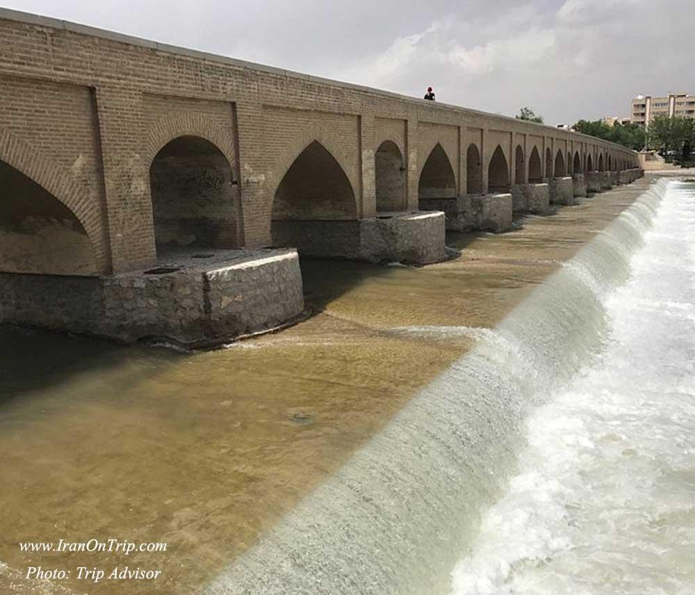 Historical marnan Bridge in Isfahan Iran