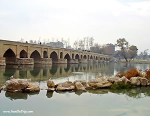 Marnan-Bridge Isfahan Iran - Historical Bridges of Iran