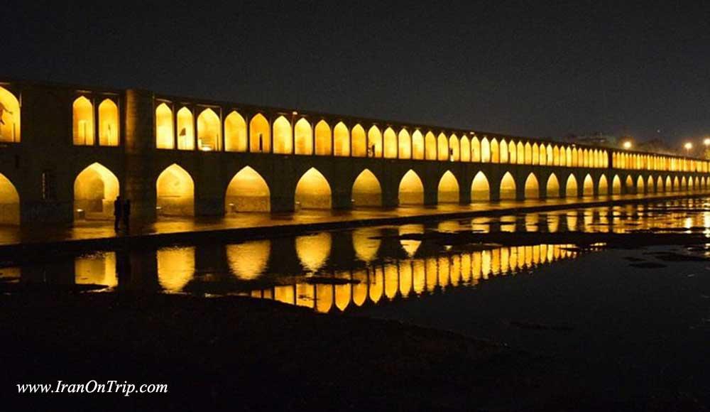 Siosepol bridge - 33 Pol - Allah Verdi Khan Bridge - Hisorical Bridges of iran