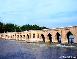 Sa'adat Abad Bridge in Isfahan - Historical Bridges of Iran