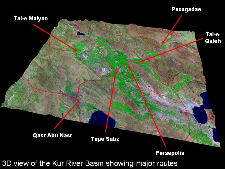Kur River Basin - plains of Iran