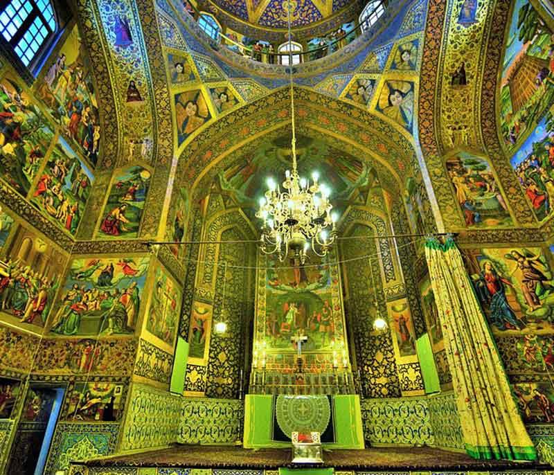 Historical Vank Cathedral in New Jolfa Isfahan - Historical Iranian Armenian Churches