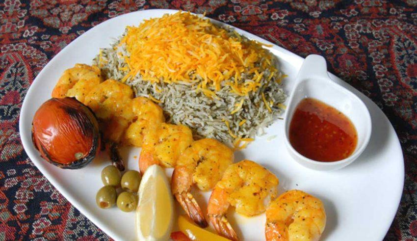 Prawn kebab - Persian Food