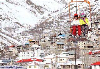 Shemshak ski Piste Tehran Iran