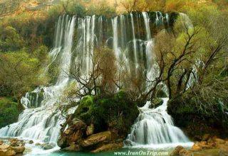 Talleh zang waterfall Dorod Lorestan Proviince Iran