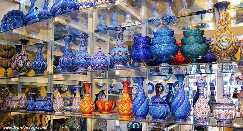 Isfahanian Arts , Art of Minakari ، Isfahan Handicrafts - Iranian Art - Persian Art